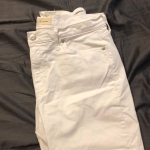 White GAP Girlfriend Jeans